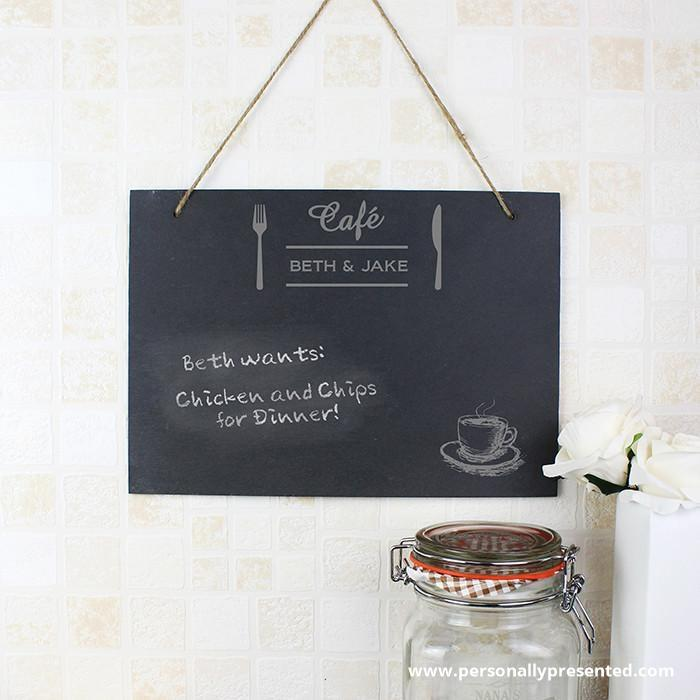 Personalised Bistro Hanging Slate Sign - Personalised Gift From Personally Presented