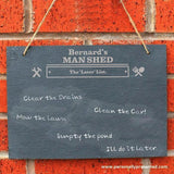 Personalised Man At Work Hanging Slate Sign - Personalised Gift From Personally Presented