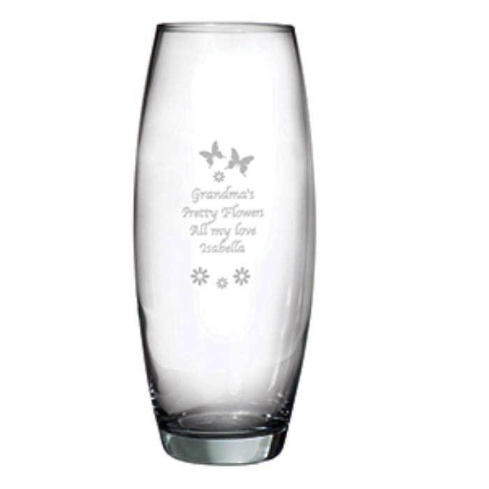 Personalised Butterflies and Flowers Bullet Vase - Personalised Gift From Personally Presented