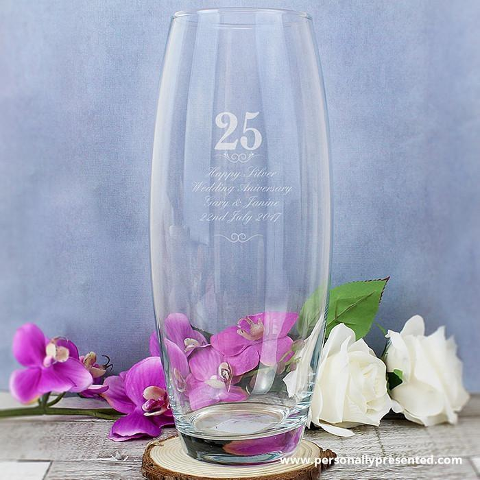 Personalised 25 Years Bullet Vase - Personalised Gift From Personally Presented