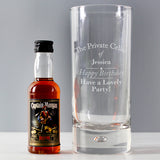Personalised Private Cellar Hi Ball & Rum Miniature Set