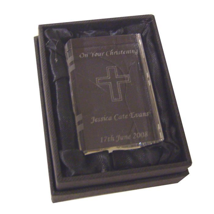 Personalised Crystal Bible - Personalised Gift From Personally Presented