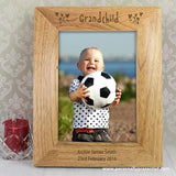 Personalised 5x7 Grandchild Wooden Photo Frame - Personalised Gift From Personally Presented