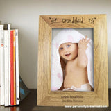 Personalised 6x4 Grandchild Wooden Photo Frame - Personalised Gift From Personally Presented