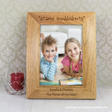 Personalised 6x4 Great Grandchildren Wooden Photo Frame - Personalised Gift From Personally Presented