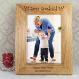 Personalised 5x7 Great Grandchild Wooden Photo Frame