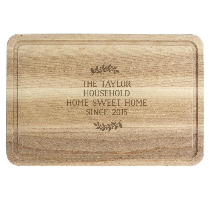 Personalised Wreath Chopping Board - Personalised Gift From Personally Presented