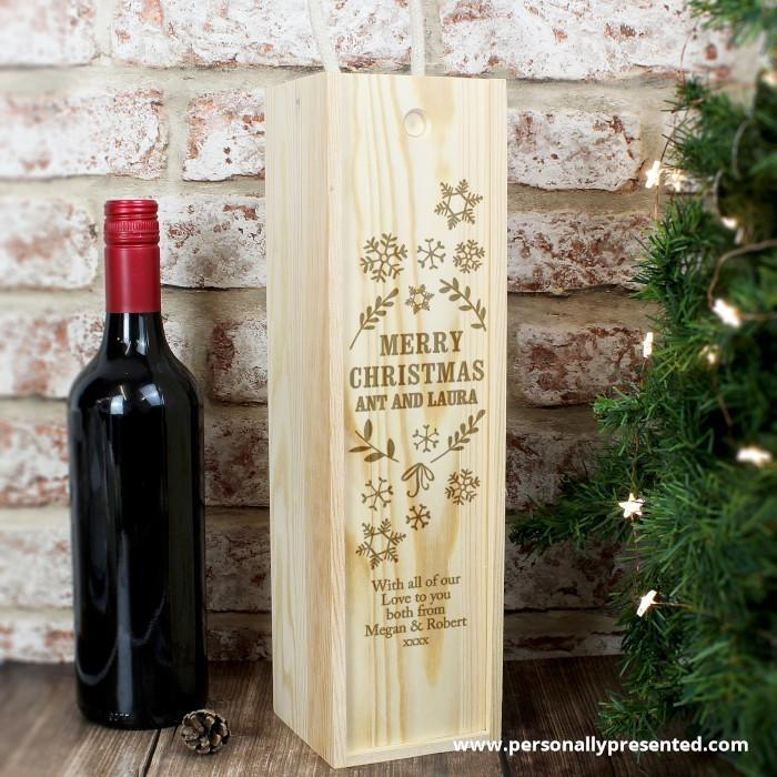 Personalised Christmas Frost Bottle Presentation Box - Personalised Gift From Personally Presented