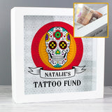 Personalised Sugar Skull Fund and Keepsake Box - Personalised Gift From Personally Presented