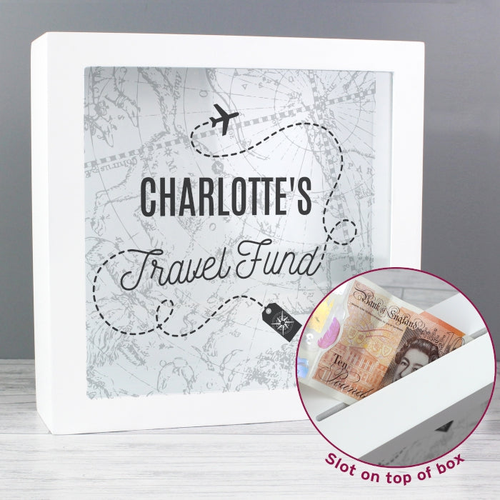 Personalised Travel Fund Box - Personalised Gift From Personally Presented