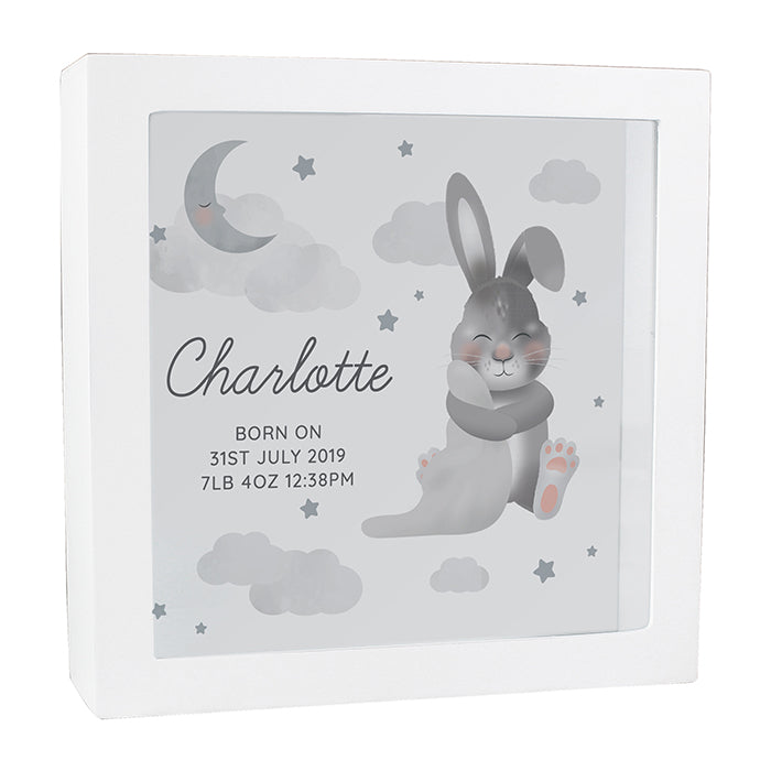 Personalised Baby Bunny Memory Keepsake Box - Personalised Gift From Personally Presented