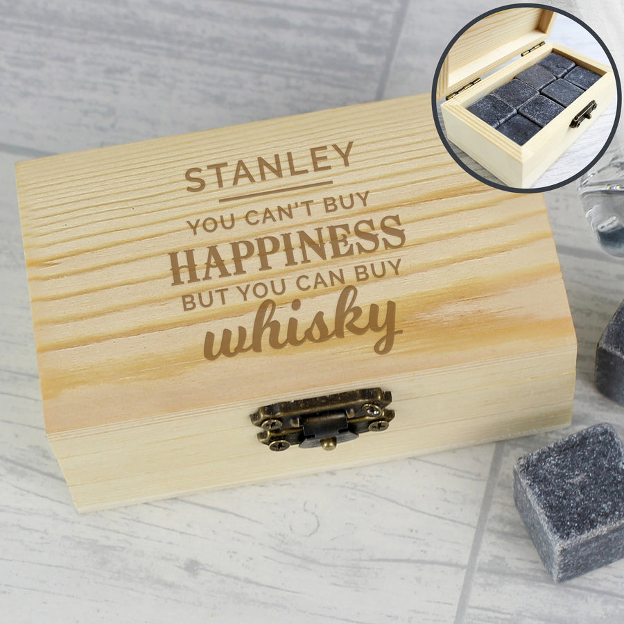 Personalised Happiness Whisky Stones - Personalised Gift From Personally Presented