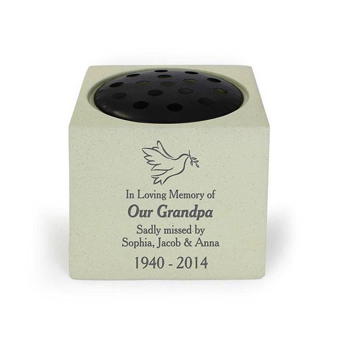 Personalised Dove Memorial Vase - Personalised Gift From Personally Presented