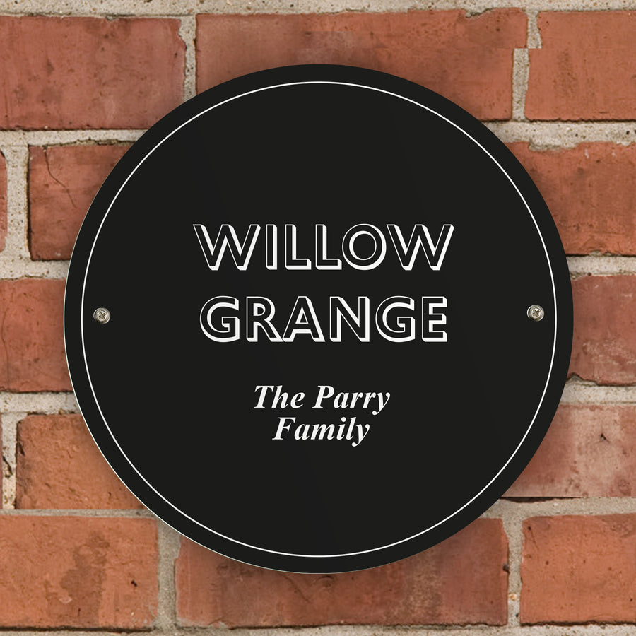 Personalised Black House/Garden Sign - Personalised Gift From Personally Presented
