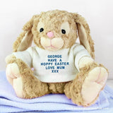 Personalised Message Bunny - Blue Embroidery - Personalised Gift From Personally Presented