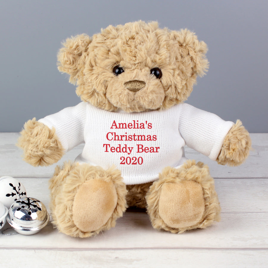 Personalised Christmas Message Bear - Personalised Gift From Personally Presented