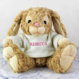 Personalised Name Only Bunny - Pink Embroidery - Personalised Gift From Personally Presented