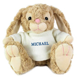 Personalised Name Only Bunny - Blue Embroidery - Personalised Gift From Personally Presented
