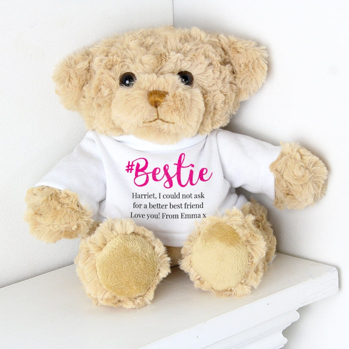 Personalised #Bestie Teddy - Personalised Gift From Personally Presented