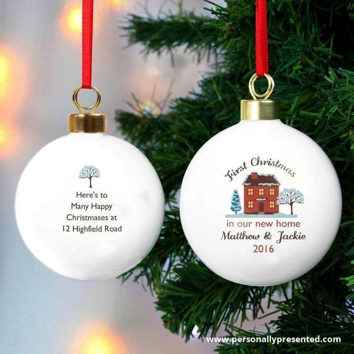Personalised Cosy Christmas Bauble - Personalised Gift From Personally Presented