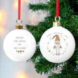 Personalised Scandinavian Christmas  Bauble Gnome