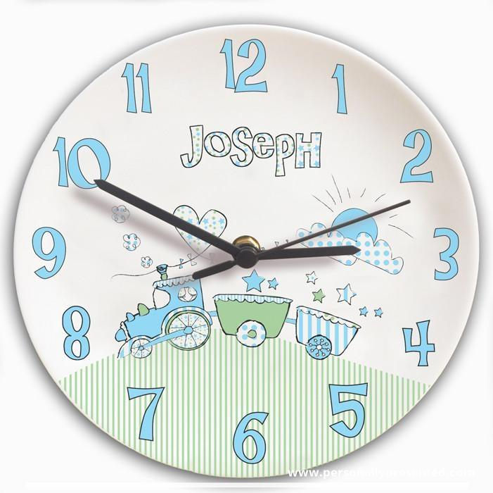 Personalised Whimsical Train Clock - Personalised Gift From Personally Presented