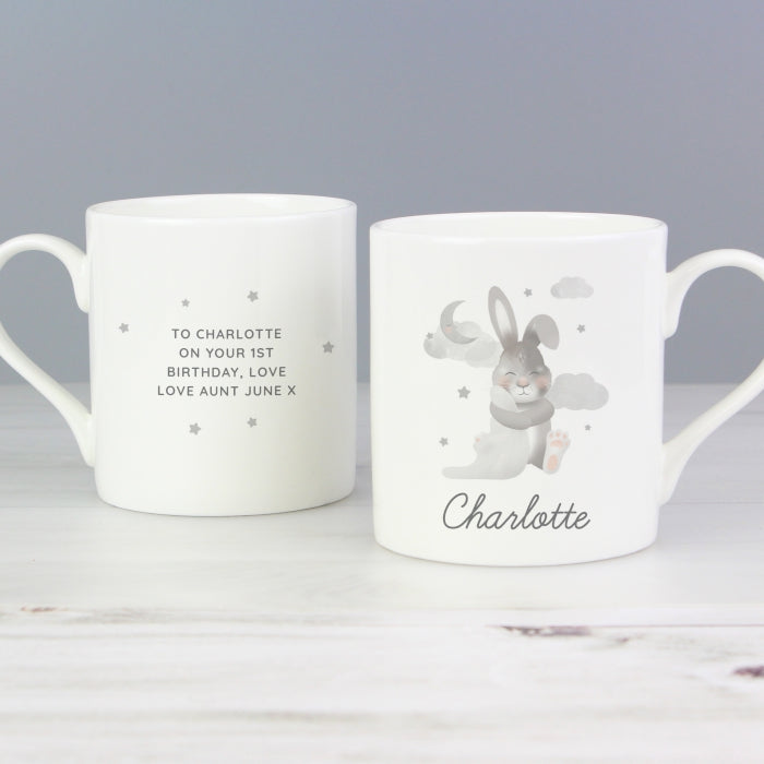 Personalised Baby Bunny Balmoral Mug - Personalised Gift From Personally Presented