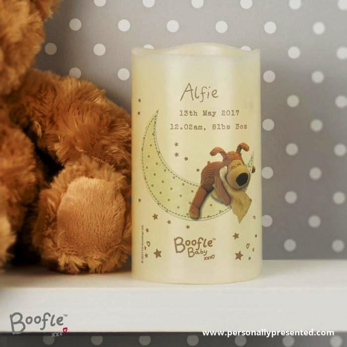 Personalised Boofle Baby Nightlight LED Candle - Personalised Gift From Personally Presented