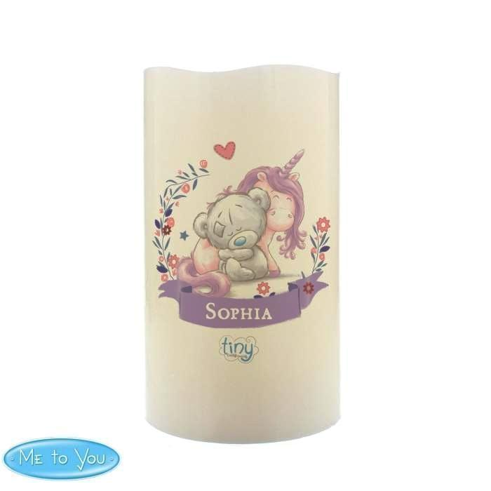 Personalised Tiny Tatty Teddy Unicorn Nightlight LED Candle - Personalised Gift From Personally Presented