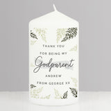 Personalised Godparent Pillar Candle - Personalised Gift From Personally Presented