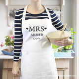 Personalised Mrs White Apron - Personalised Gift From Personally Presented