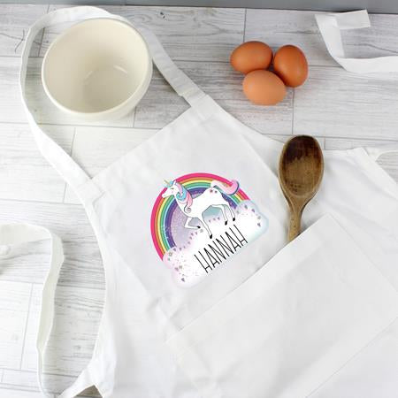 Personalised Unicorn Kids Apron - Personalised Gift From Personally Presented