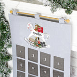 Personalised Rocking Horse Advent Calendar In Silver Grey - Personalised Gift From Personally Presented