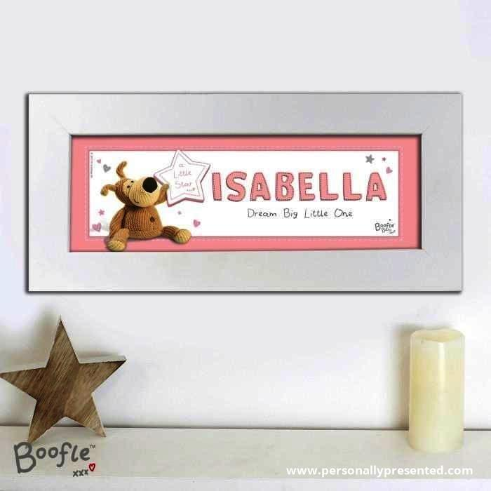 Personalised Boofle It's a Girl Name Frame - Personalised Gift From Personally Presented