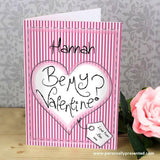 Personalised Be My Valentine Card - Personalised Gift From Personally Presented