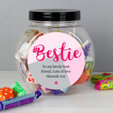 Personalised #Bestie Sweet Jar - Personalised Gift From Personally Presented