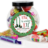 Personalised Elf Surveillance Sweet Jar - Personalised Gift From Personally Presented