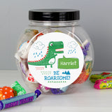 Personalised 'Be Roarsome' Dinosaur Sweet Jar - Personalised Gift From Personally Presented