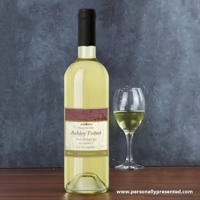 Personalised Traditional White Wine - Personalised Gift From Personally Presented