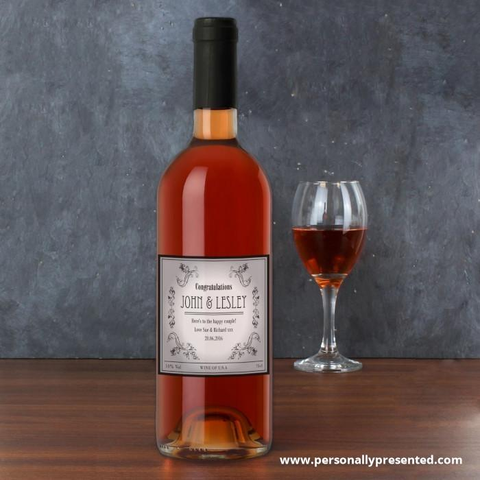 Personalised Vineyard Rose Wine - Personalised Gift From Personally Presented