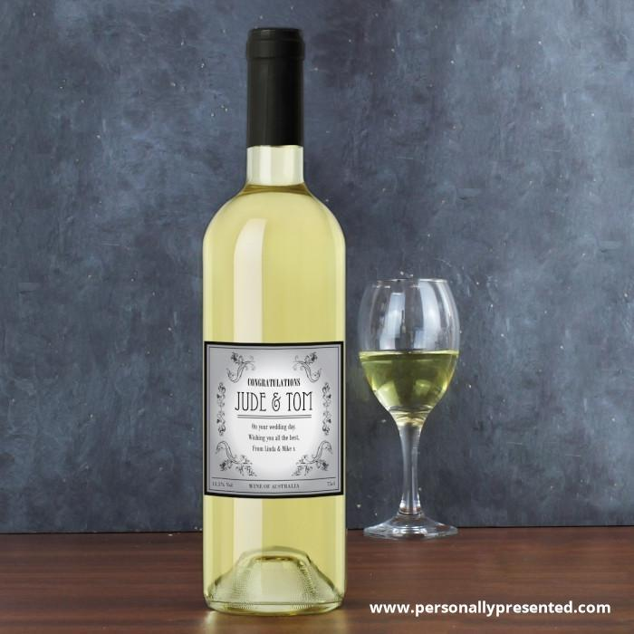 Personalised Vineyard White Wine - Personalised Gift From Personally Presented