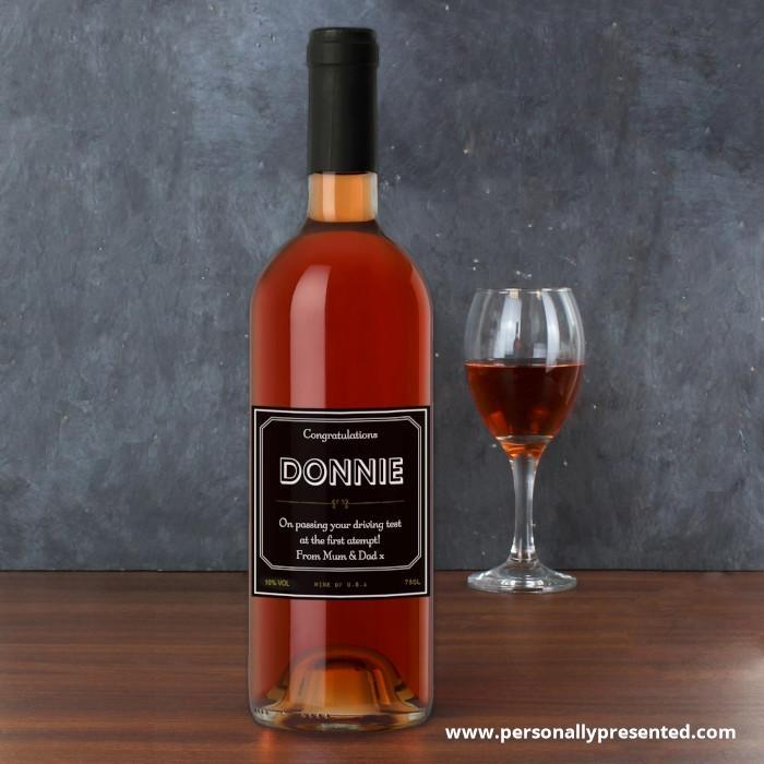 Personalised Ornate Rose Wine - Personalised Gift From Personally Presented