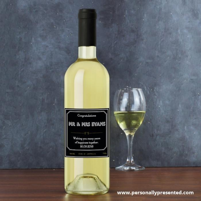 Personalised Ornate White Wine - Personalised Gift From Personally Presented