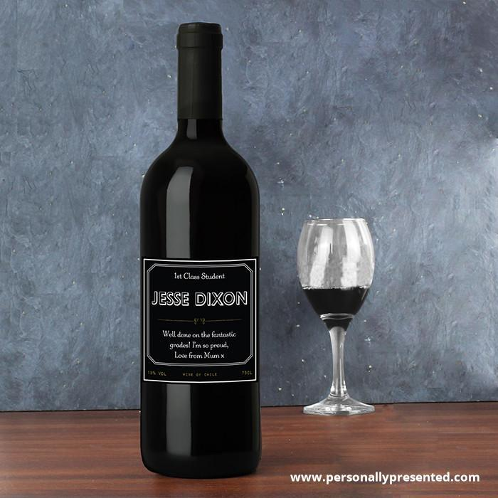 Personalised Ornate Red Wine - Personalised Gift From Personally Presented