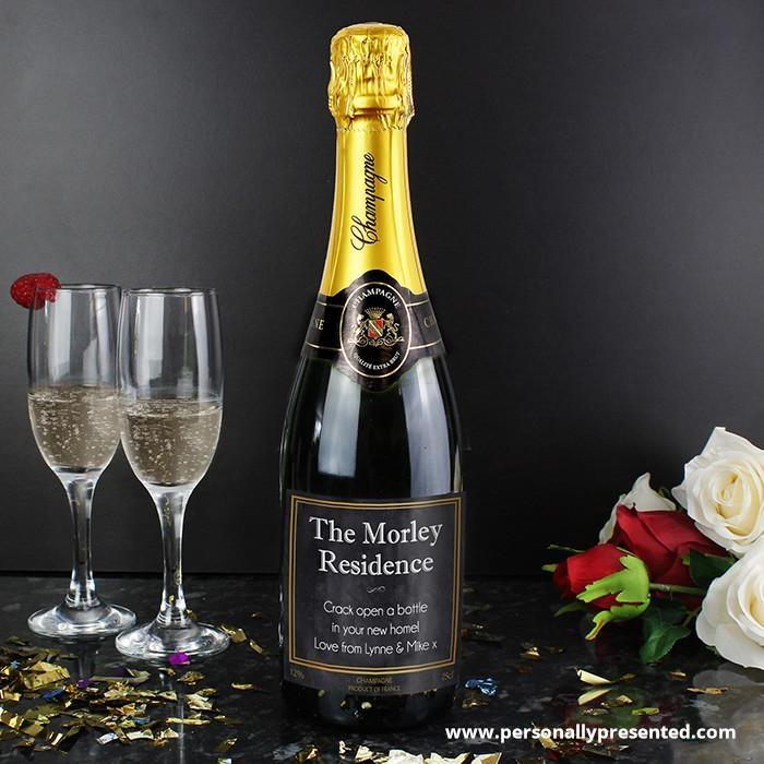 Personalised Chalkboard Champagne - Personalised Gift From Personally Presented