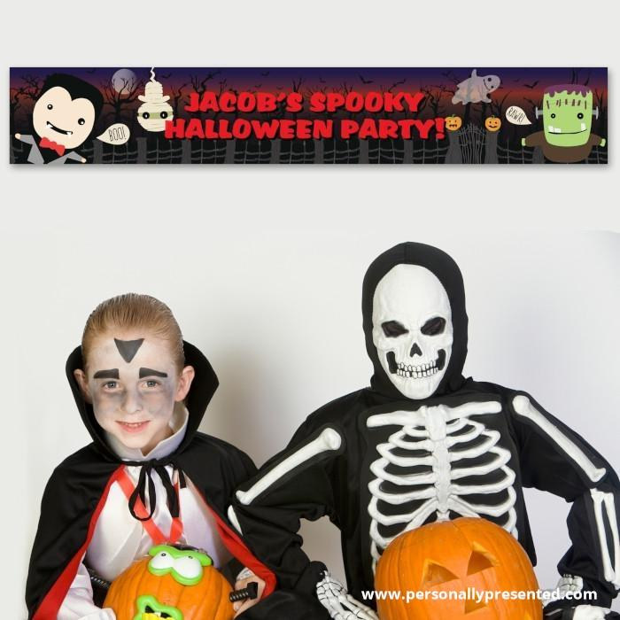 Personalised Halloween Banner - Personalised Gift From Personally Presented