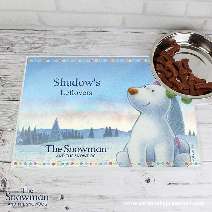 Personalised The Snowdog Pet Placemat - Personalised Gift From Personally Presented