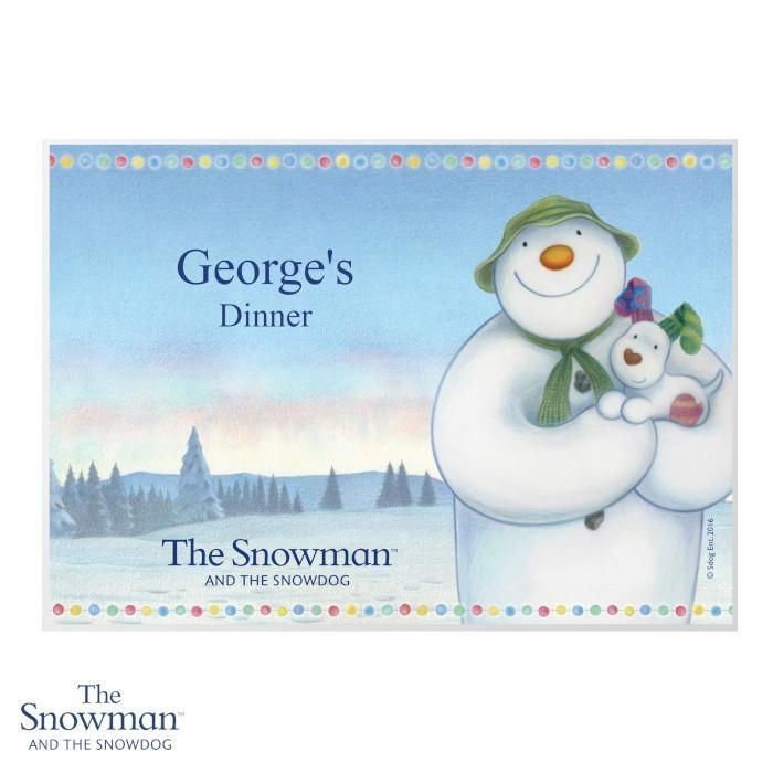 Personalised The Snowman and the Snowdog Placemat - Personalised Gift From Personally Presented