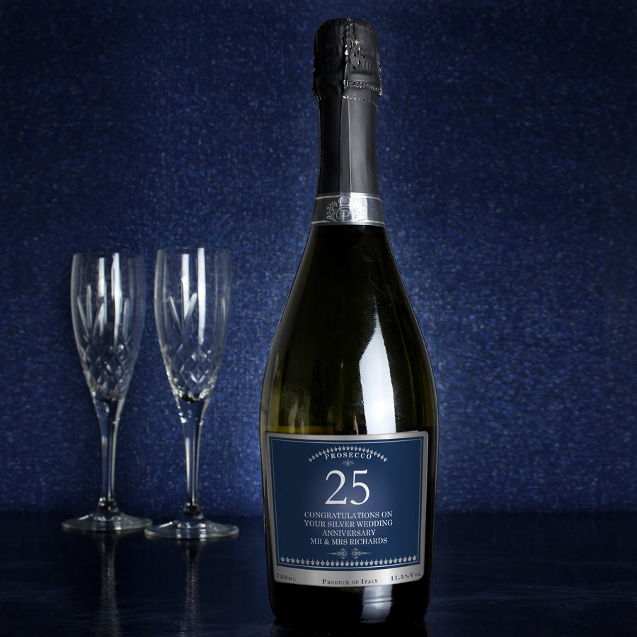 Personalised Big Age Bottle of Prosecco - Personalised Gift From Personally Presented