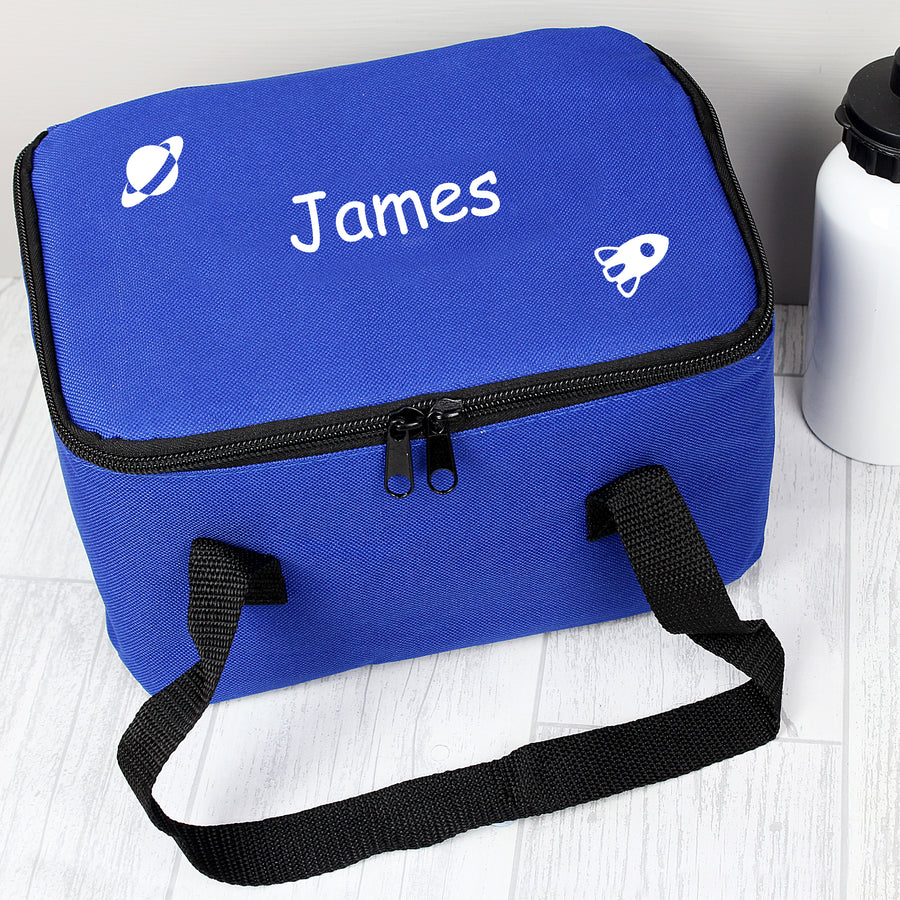 Personalised White Rocket Lunch Bag - Personalised Gift From Personally Presented